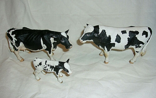 Schleich Germany Holstein Family Bull, Cow, & Calf