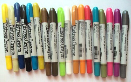 Tim Holtz Distress Crayons, 18 Crayons of Different Colors - NEW