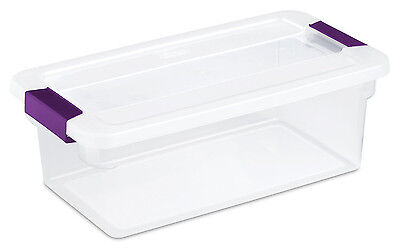 12 Pack) Sterilite 17511712 6-Quart ClearView Latch Box Storage Tote Container - Small Plastic Storage Containers