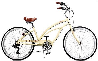 Fito Marina Alloy 7-speed - Vanilla, Aluminum Light Weight Beach Cruiser Bike
