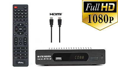 Digital TV Converter Box View and Record Over the Air Channels w/ HDMI Cable ()