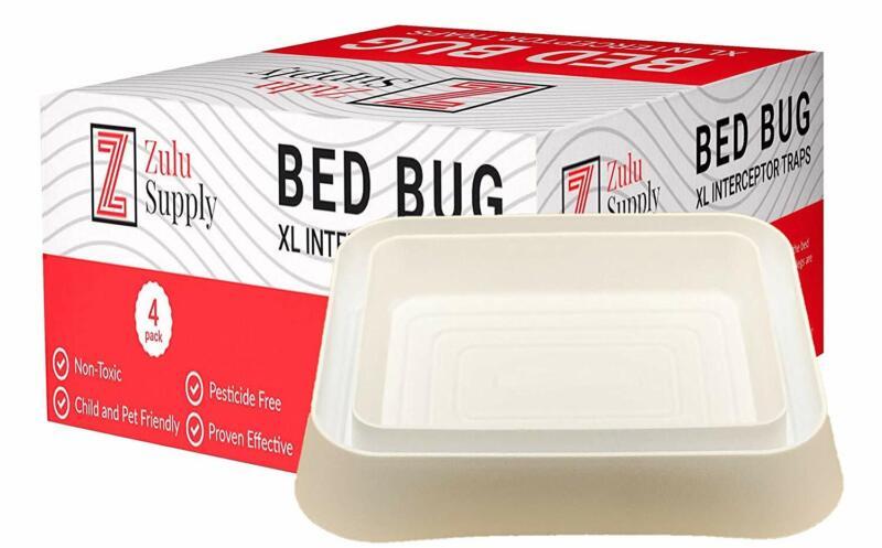 Zulu Supply XL Bed Bug Interceptors - 4 Pack, White, Extra L