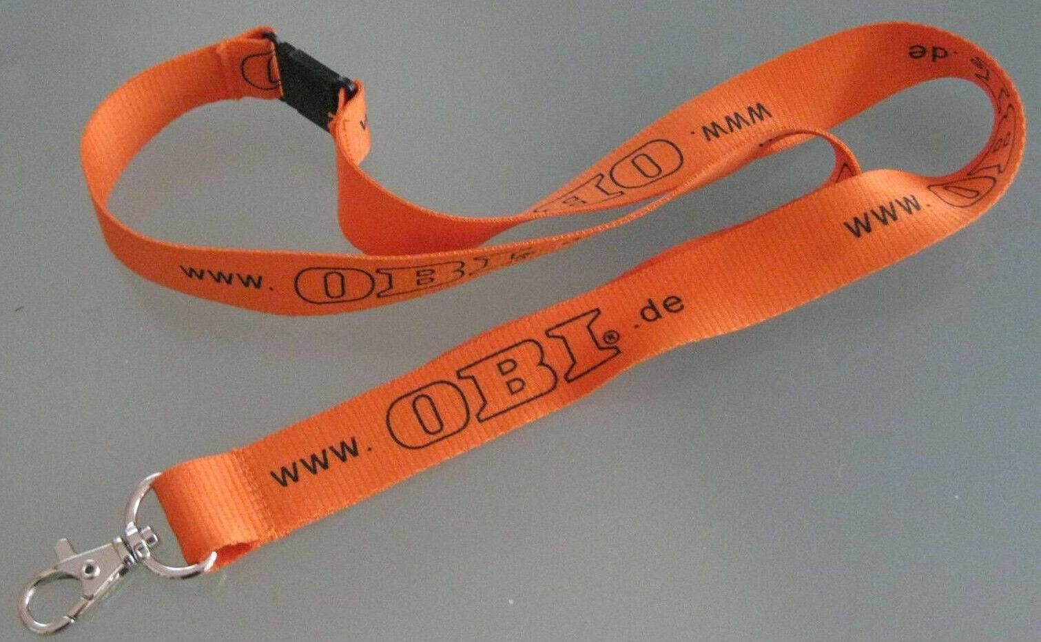 OBI Baumarkt Schlüsselband Lanyard NEU (T69)