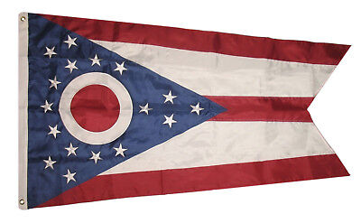 5x8 Embroidered Sewn State of Ohio 600D Nylon Flag 5'x8' Banner