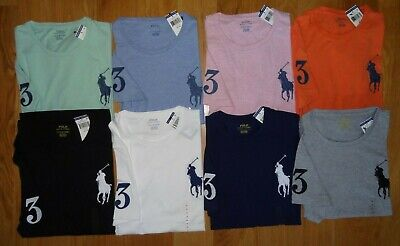 Polo Ralph Lauren BIG PONY Crewneck T Tee Shirt Brand New With Tag S M L XL (Ralph Lauren Pony)