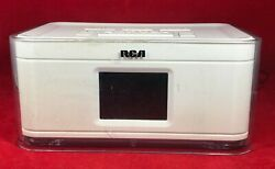RCA RCR8622 Dual Alarm Clock AM FM Radio w4 Multi color Wraps /phone USB Charger