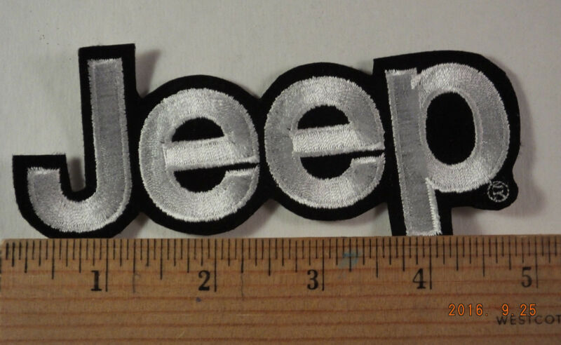 """Jeep Patch  Iron-On Embroidered Patch  5"""""""