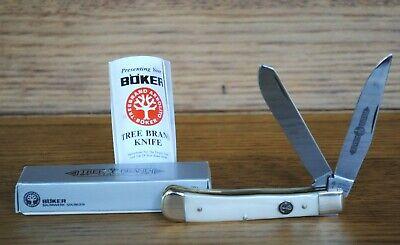 Vtg BOKER TREE TRAPPER POCKET KNIFE CLIP & SPEY BLADES #95251P SMKW Germany NIB