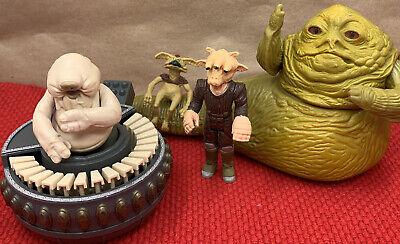 VTG 1983 Kenner Star Wars Lot Jabba the Hutt Salacious Crumb REBO Band ReeYees