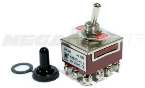 Toggle Switch Heavy Duty 20A/125V 4PDT ON-ON w/Waterproof Boot... USA SELLER!!!