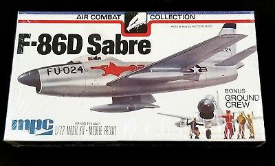 Vintage MPC F-86D Sabre 1/72 Model Kit Air Combat Collection NOS Sealed 2-2106
