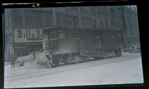 1948 TARS 3rd Av Railway Trolley 163rd St Bronx New York NYC 616 Photo Negative