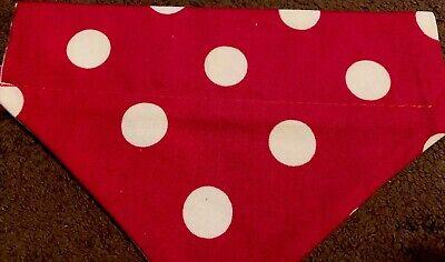 Red Polka Dot Bandana (Red & White Big Polka Dot  Over The Collar Dog)