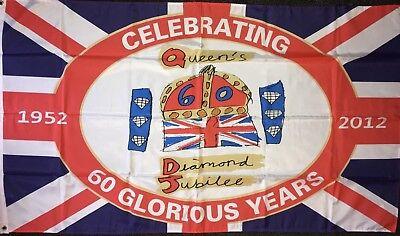 60th Jubilee Flag 5x3 Union Jack Royalty Monarchy Royal Family Queen Elizabeth
