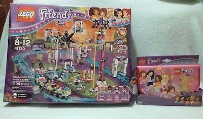 New    Lego Friends Amusement Park Roller Coaster 41130 Bonus Heartlake Wristlet