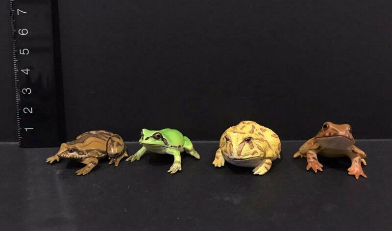 Kaiyodo Animatales Choco Q Assorted Frog Figure Lot Argentine Green Brown Etc