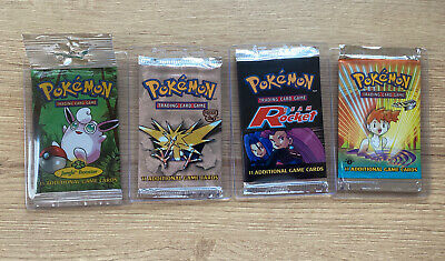 Facorty Sealed WOTC Pokemon Booster Packs From 1999-2000. 1st Edition!