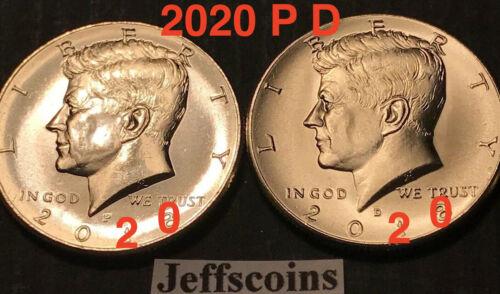 2020 P&D Kennedy Half Dollars Kenedy PD MINT ROLL Clad 50¢ Best 2 New Sale Coins