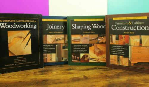 Woodworking Complete Illustrated Guide HC Book Lot Box Set Carpentry $120 RRP