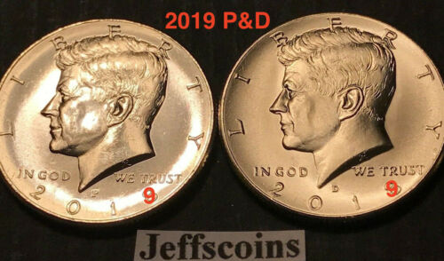 2019 P&D Kennedy Half Dollars Kenedy PD MINT ROLL Clad 50¢ 2 Uncirculated Coins