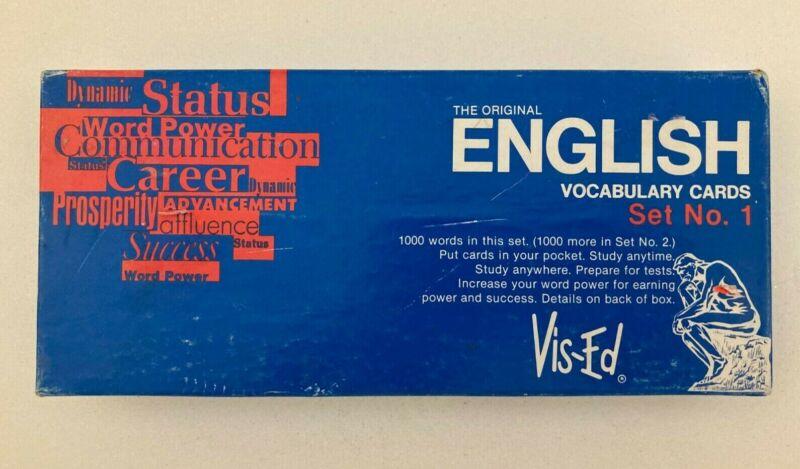 The Original English Vocabulary Cards Set No. 1 Vis-Ed 1000 words in set