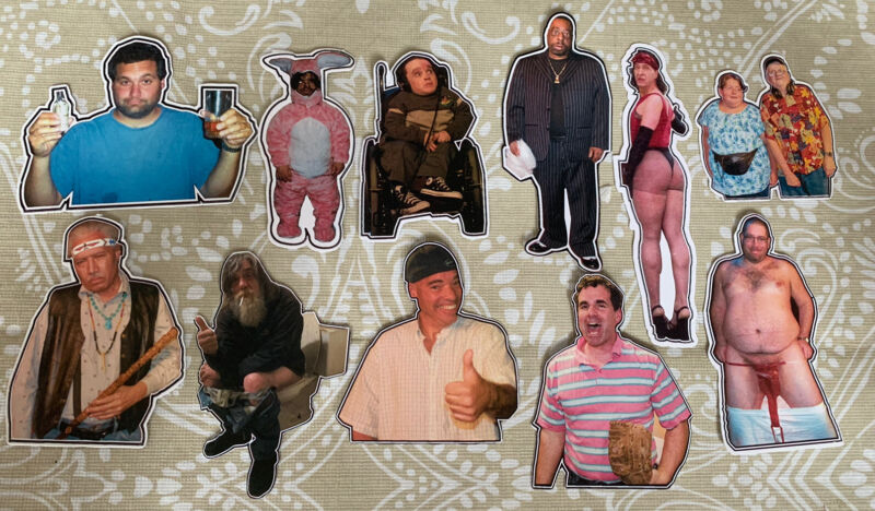 Howard Stern Show Wack Pack Stickers Beetlejuice Hank the Dwarf Eric the Actor