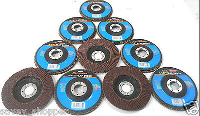 Lot Of 10-4 12 Inch X 78 Flap 40 Grit Wheel Sanding Disc Aluminum Oxide