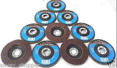 Sanding Disc 10 Pc. 4 12 Inch X 78 Flap 40 Grit Wheel Aluminum Oxide