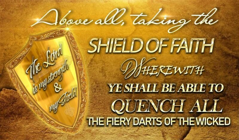 Shield of faith Worship Dance Flag 100% Silk in stock