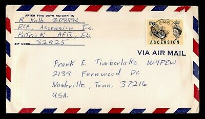 DR WHO ASCENSION AIRMAIL TO USA C242927