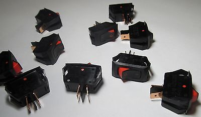 10 Carling Ra901911t85 Panel Mount Snap-in Rocker Switch 16a 125vac 10a 250v