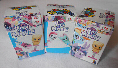 My Little Pony The Movie Blind Box Crazy Pony Bobblehead Spring Toys lot of 3