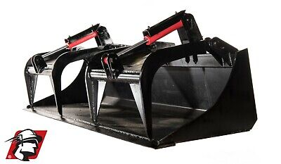 76 Scrap Dual Cylinder Heavy Duty Grapple Bucket For Bobcat