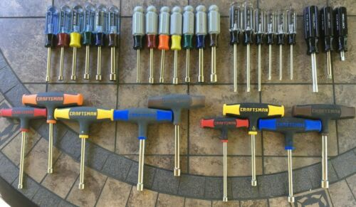 SURPRISES INSIDE  31 PC CRAFTSMAN (25 ARE USA MADE)  NUTDRIVERS, TORX DRIVERS