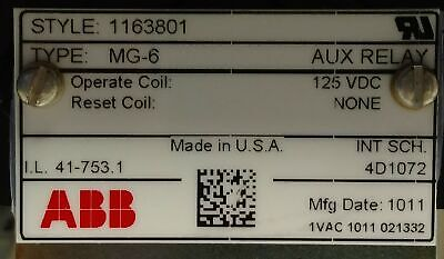 ABB 1163801 Multi-Contact Auxiliary Relay