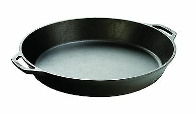Lodge Seasoned Cast Iron Skillet with 2 Loop Handles - 17 In