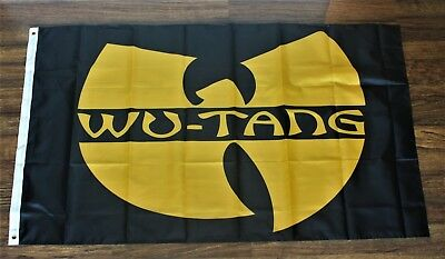Wu-Tang Clan Banner Flag Wu Tang WuTang Rap Music Black 3 x 5 New
