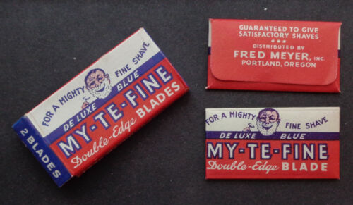 Vintage USA Razor Blades MY-TE-FINE Full Pack of 2  RARELY SEEN