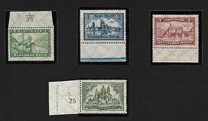 GERMANY 1924 HISTORICAL BUILDINGS - LUXUS CPL.SET** OF 4 POST OFFICE FRESH - Italia - GERMANY 1924 HISTORICAL BUILDINGS - LUXUS CPL.SET** OF 4 POST OFFICE FRESH - Italia