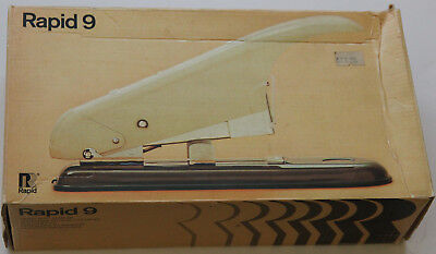 Rapid 9 heavy duty stapler + box of 9/14 staples [made in Sweden in approx 1970]