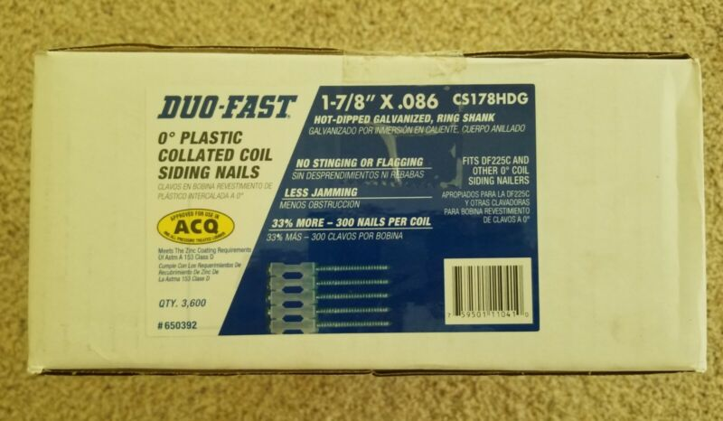 Duo-Fast - 650392 1 7/8-Inch by .086 Ring Shank Hot Dipped Galvanized Coil Si...