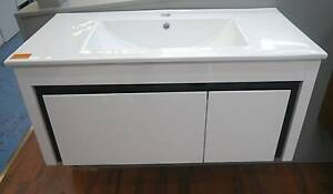 New KDK PB-900 White & Black Wall Hung Bathroom Vanity Melbourne CBD Melbourne City Preview