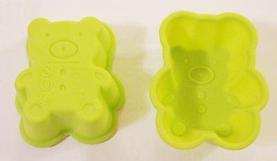 2x Mini-Backform Silikon Teddy Backen Kindergeburtstag Ostern Weihnachten