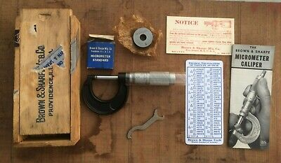 Vintage Brown And Sharpe No 11 Minty Micrometer With 1 Calibration Standard