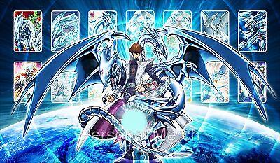 Yu-Gi-Oh PlayMat Blue Eyes White Dragon Kaiba Mat