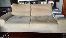 BOTH 2-Seater AND  3-Seat Sofas - Faux-Suede fabric Mermaid Beach Gold Coast City Preview