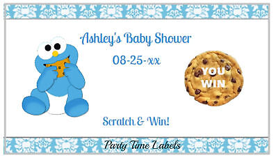 Cookie Monster Baby Shower Game Scratch Offs Birthday Party Favors SET of - Monster Baby Shower