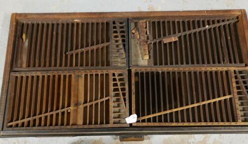 Antique Hamilton Letterpress Type case Drawer #6 with quarter dividers