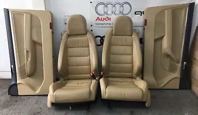 VW GOLF MK5 GTI TAN HEATED LEATHER FRONT SEATS WITH DOOR CARDS / CADDY UPGRADE