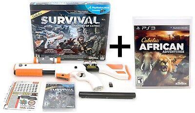 NEW PS3 Cabela's BUNDLE Shadows of Katmai + African Adventures Video Game Hunt comprar usado  Enviando para Brazil